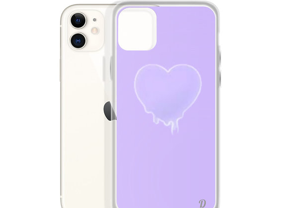 Purple Melting Heart iPhone Case