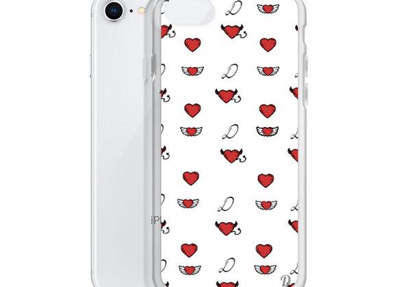 White Monogram iPhone Case
