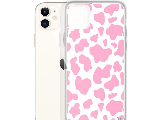 Pink Cow Print iPhone Case