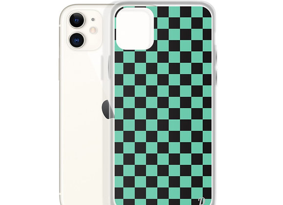 Green Checkers iPhone Case
