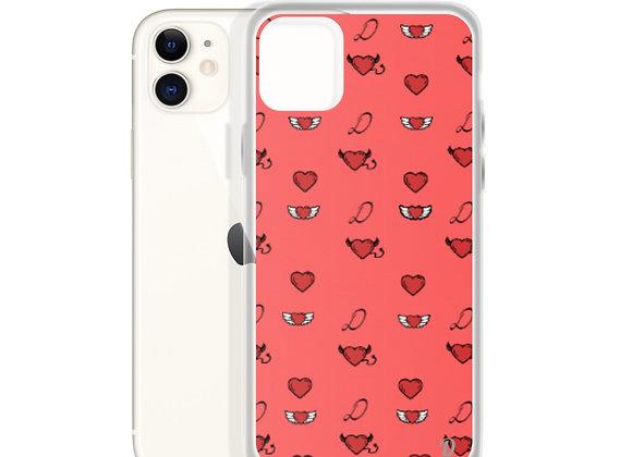 Red Monogram iPhone Case
