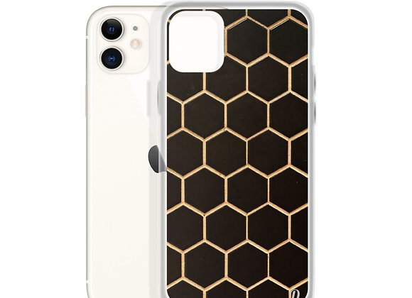 Gold Hexagons iPhone Case