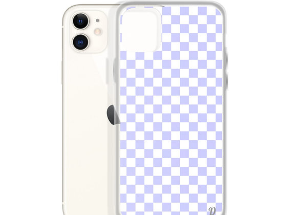 Purple Checkers iPhone Case
