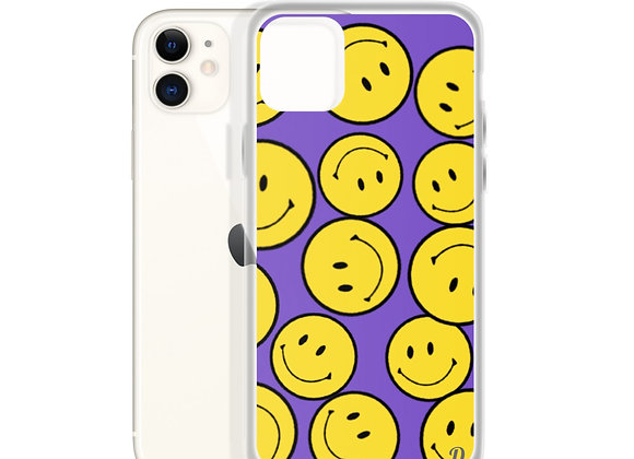 Purple Smiley iPhone Case