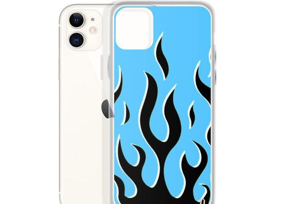 BLUE FLAMES iPhone Case