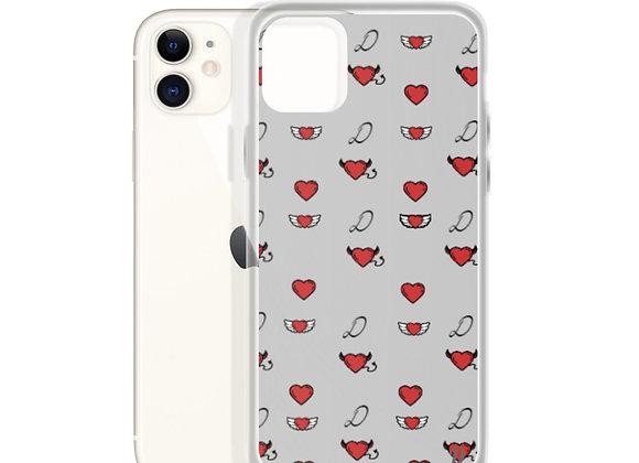 Grey Monogram iPhone Case