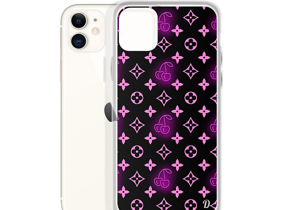 Neon Cherry Monogram  iPhone Case