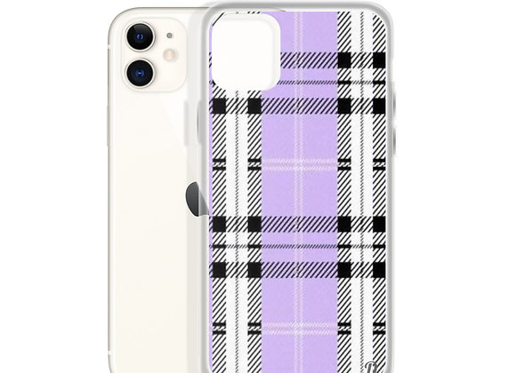 Purple Plaid iPhone Case
