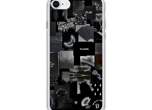 Black collage  iPhone Case