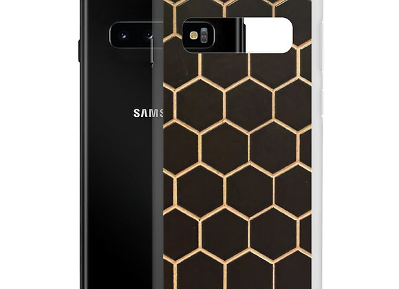 Gold Hexagons Samsung Case