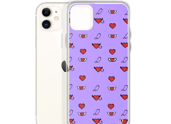 Purple Monogram iPhone Case