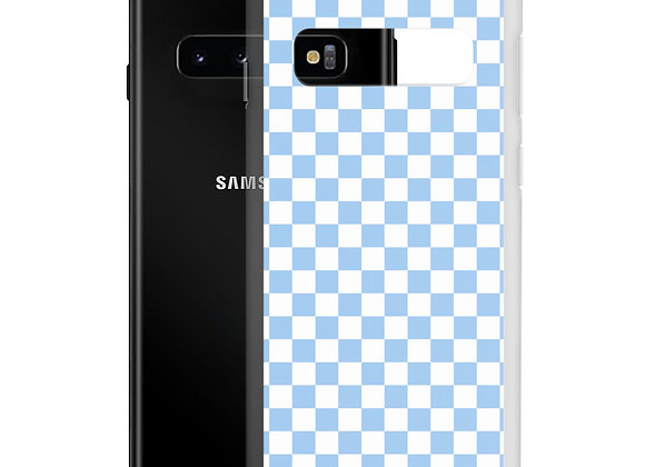 Blue Checkers Samsung Case