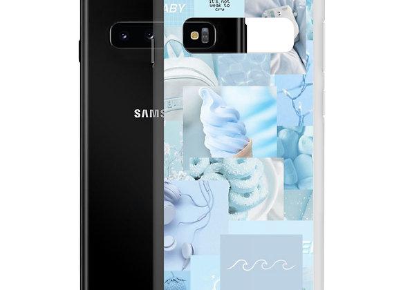 Blue Collage Samsung Case