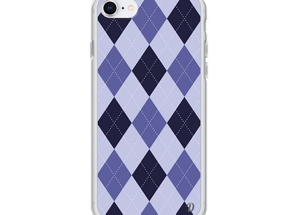 Purple Argyle Plaid iPhone Case