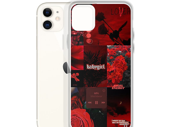 Dark Red Collage iPhone Case