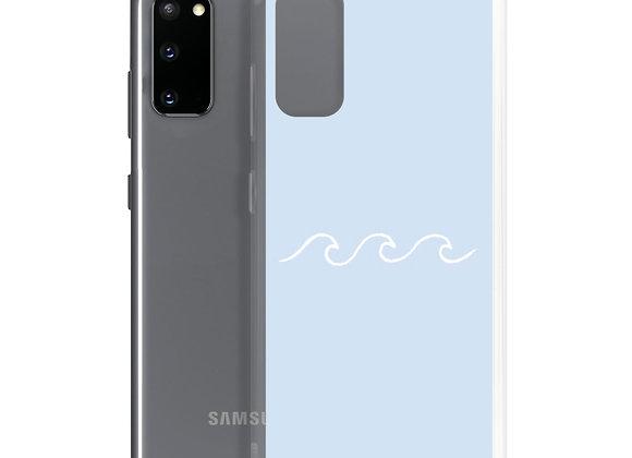 Pastel Blue Waves Samsung Case