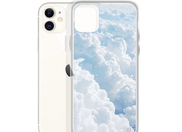 Pastel Blue Clouds iPhone Case