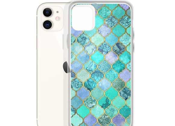 Shades of turquoise iPhone Case