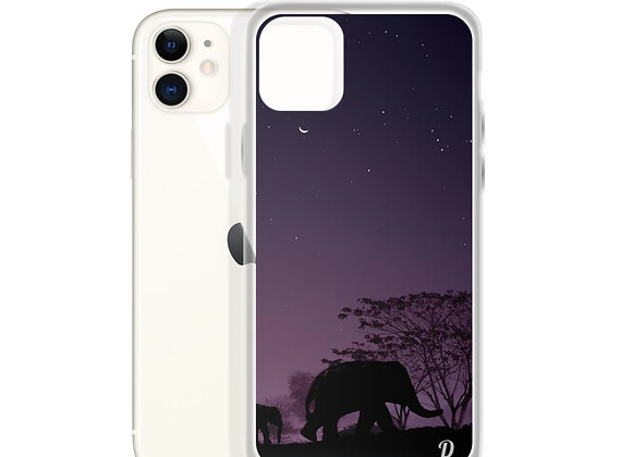 Midnight Elephant Walk iPhone Case