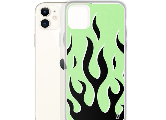 Neon Flames iPhone Case