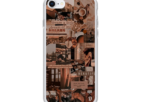 Beige Aesthetic collage iPhone Case