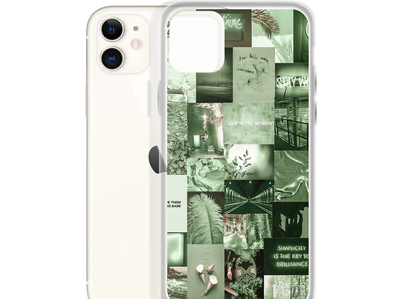 Mint Green Collage iPhone Case