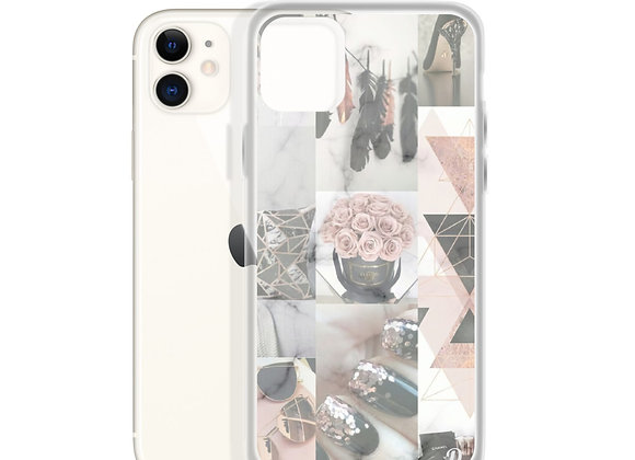 Grey and Pink iPhone Case