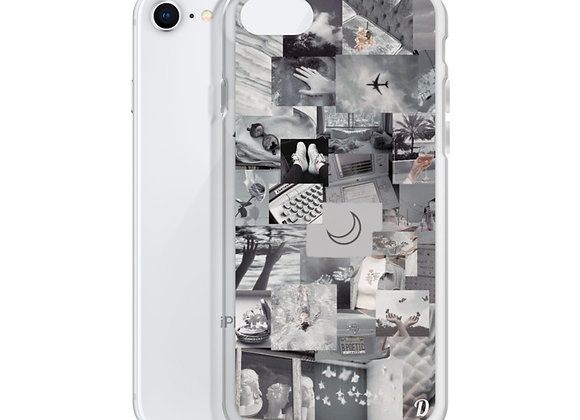 Grey collage aesthetic iPhone Case