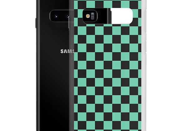 Green Checkers Samsung Case