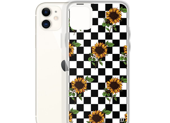 Checked Sunflowers iPhone Case