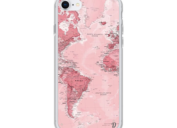 Pink Map iPhone Case