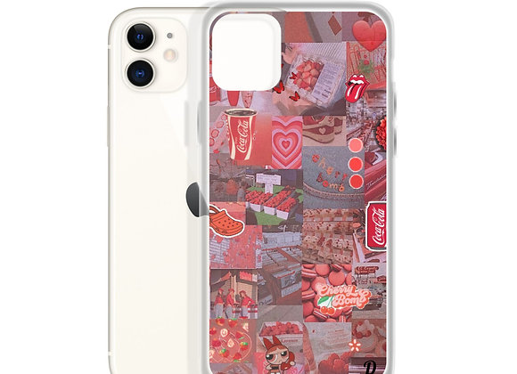 Soft red collage iPhone Case