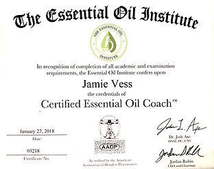 Jamie Vess essential oil coach