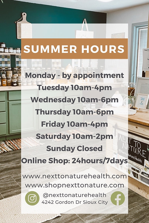 next to nature store hours