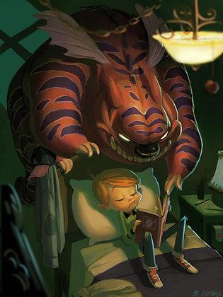 """Bedtime Stories"" 5 x 7 print"