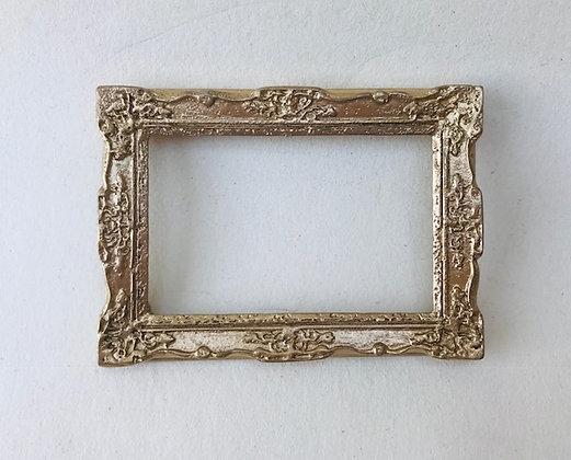 Ornate Rectangular Frame in Gilt Finish