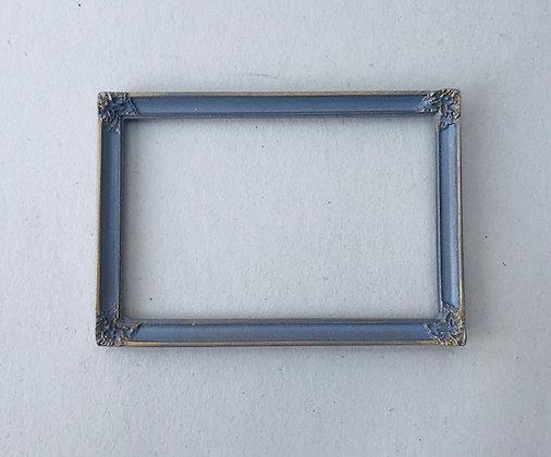 Rectangular Frame in Grey and Gilt Finish