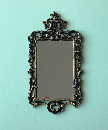 George 111 Mirror in Black and Gilt