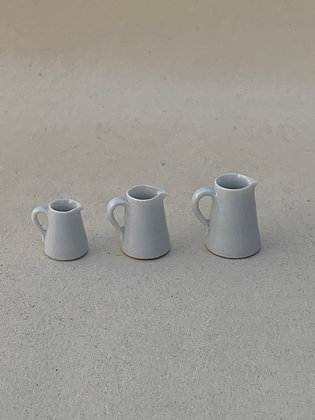 Set of 3 White Jugs by Elisabeth Causeret