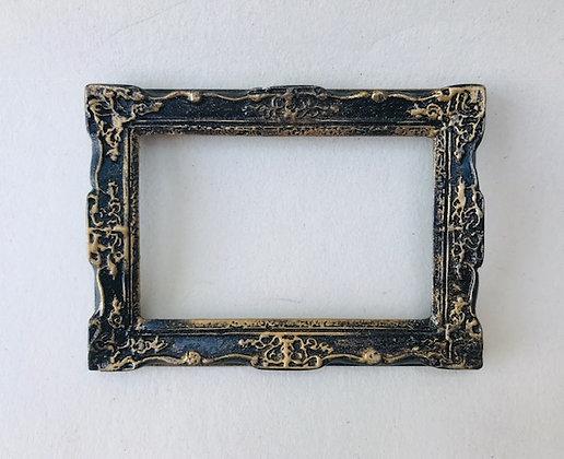 Rectangular Ornate Frame in Black and Gilt Finish