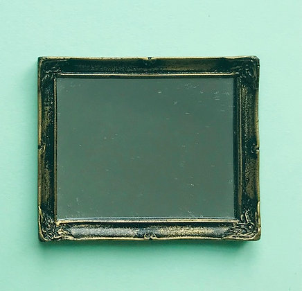 Rectangular Mirror in Black and Gilt Finish