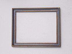 Rectangular Frame in Grey and Gilt