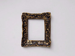 Small Ornate Frame in Black and Gilt