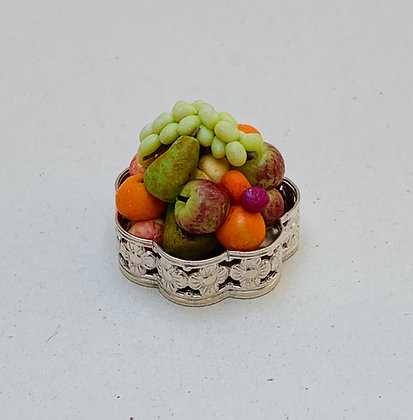 Silver Bowl with Fruit by Et Cetera