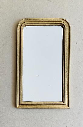 Gilt Curved Top Mirror