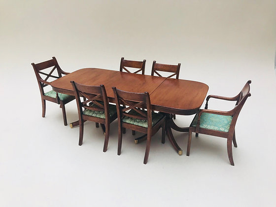 6 Seater Table with Twin Pedestals