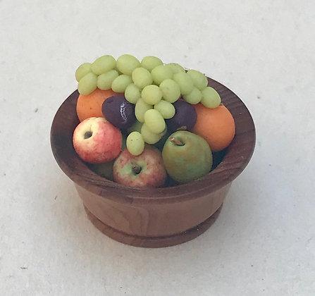Fruit in Wooden Bowl by Et Cetera
