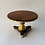 "Thumbnail: Round 4"" Table  with Gold Leaf Pedestal, Apron and Lion Paw Feet"