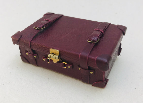 Leather suitcase by The Luggage Lady