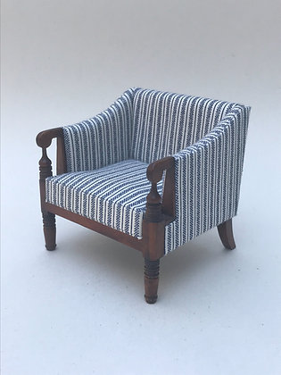Regency Chair with Scroll Arms and Turned Legs